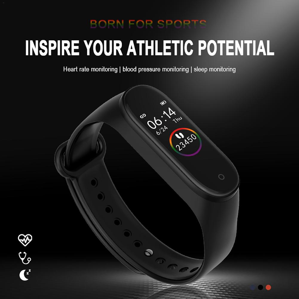 "M4 Smart Armband 0,96 ""Wasserdichte Fitness Farbe Heart Rate Blutdruck Sauerstoff Monitor für Xiaomi band 4 M4 smart Band"