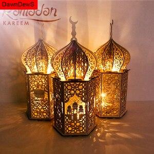 ИД Мубарак мусульманские кулоны фестиваль светильник s Рамадан украшение для дома деревянный светильник LED ИД Декор ислам подарки для мусул...