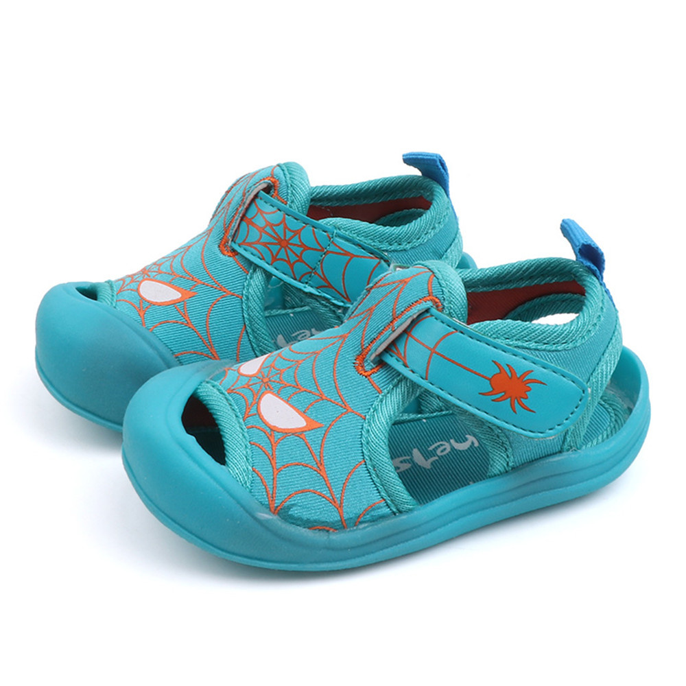 2019 Fashion Style Summer Cute Baby Boys And Girls Solid Color Toddlers Kids Spider Boys Toddler Shoes