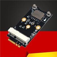 M.2 Wifi Adapter Mini PCIE Drahtlose Netzwerk Karte zu M2 NGFF Schlüssel A + E Wifi Karte Raiser mit SIM karte Slot für WiFi/WWAN/LTE Modul