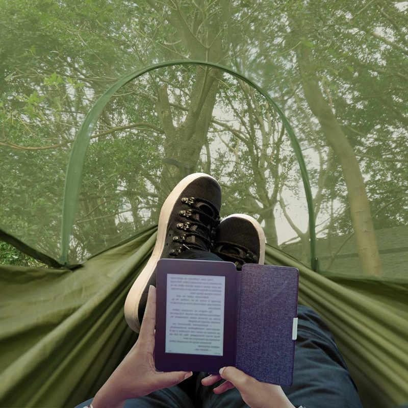 2020 di campeggio Amaca con Zanzariera Pop-Up Luce Portatile All'aperto Paracadute Amache Altalena Sleeping Hammock di Campeggio Roba