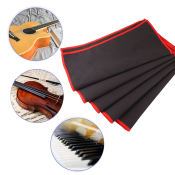 цена на 5Pcs Guitar Bass Cleaning Cloth Micro fibre Material Polish Cloth Black Cleaner Cloths for Guitar Instrument Parts Accessories