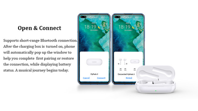 Huawei Honor FlyPods 3 Wireless Earphone TWS Three Microphone Noise Reduction Bluetooth 5.0 Waterproof IP54 Wireless Charge (6)