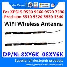 Yeni WiFi kablosuz anten Dell XPS15 9550 9560 9570 7590 hassas 5510 5520 5530 5540 M5510 M5520 M5530 M5540 8XY6K 08XY6K