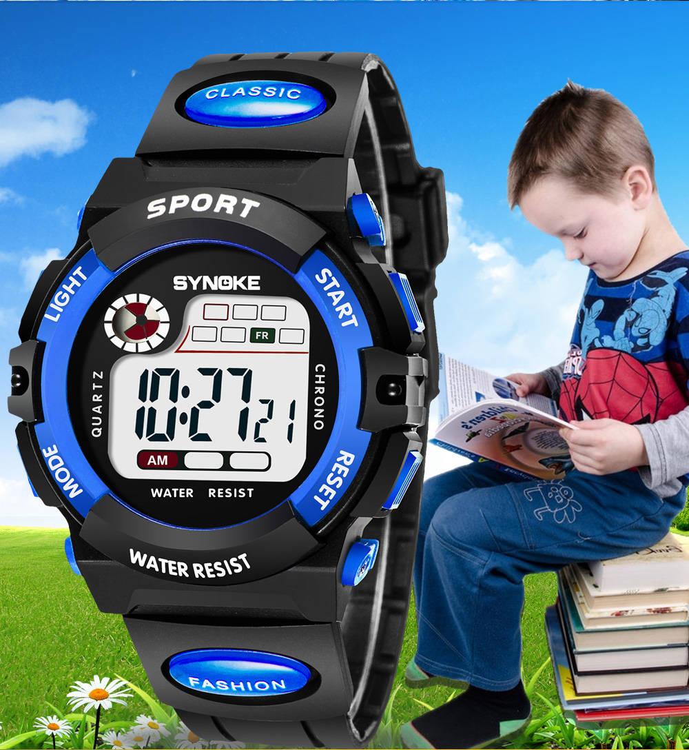 UTHAI CE03 Kids Watch Sport Children Watches LED Digital For Girl Boys Wristwatch Electronic