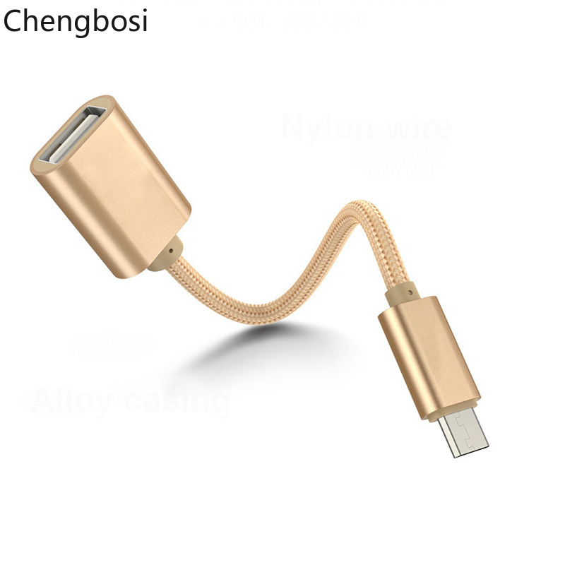 Micro USB OTG Cable Adapter For Xiaomi Redmi Note 5 Micro USB Connector For Samsung S8 9 Tablet Android USB 2.0 OTG Adapter