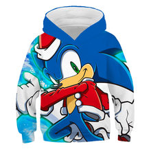 2020 3d Hoodies Kinder Familie shirts Anime Super Sonic Kinder Sonic the Hedgehog jungen kleidung Pullover Cartoon Sweatshirt straße(China)