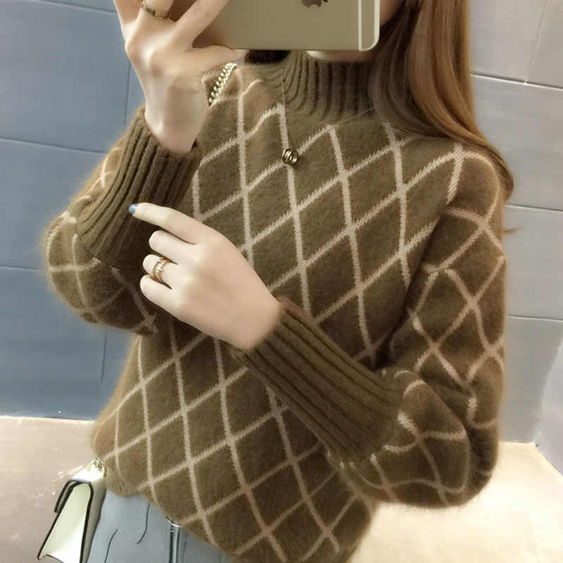 sweaters fashion 2019 women turtleneck female cashmere sweater vintage pullover fashions women's sweater female cashmere OK353