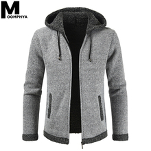 Moomphya, Зимний вязаный мужской свитер с капюшоном, куртка, пальто, водолазка, мужской кардиган на молнии, свитер, мужские повседневные свитера для мужчин