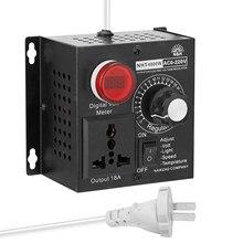 Regulador de tensão ac 220v 4000w compacto controlador de tensão variável portátil velocidade temperatura luz tensão regulável dimmer