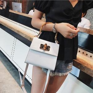 Image 3 - Crocodile Women Handbag Top Handle Bags Designer Lock Crossbody Shoulder Bag Small Flap Bag Purse Bolso Femenino Za Sac A Main