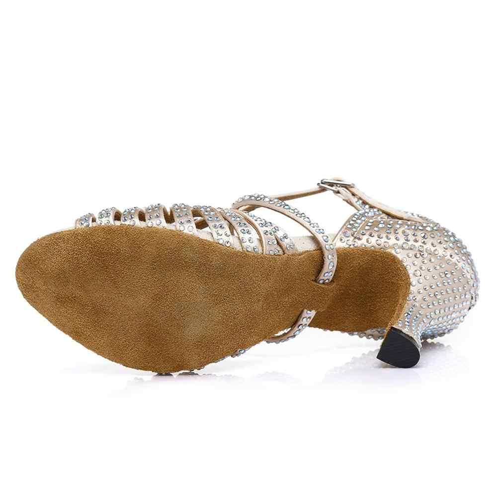 Model 515//WX HROYL Womens 1920s Ballroom Practice Closed Toe Latin Salsa Tango Jazz Dance Shoes
