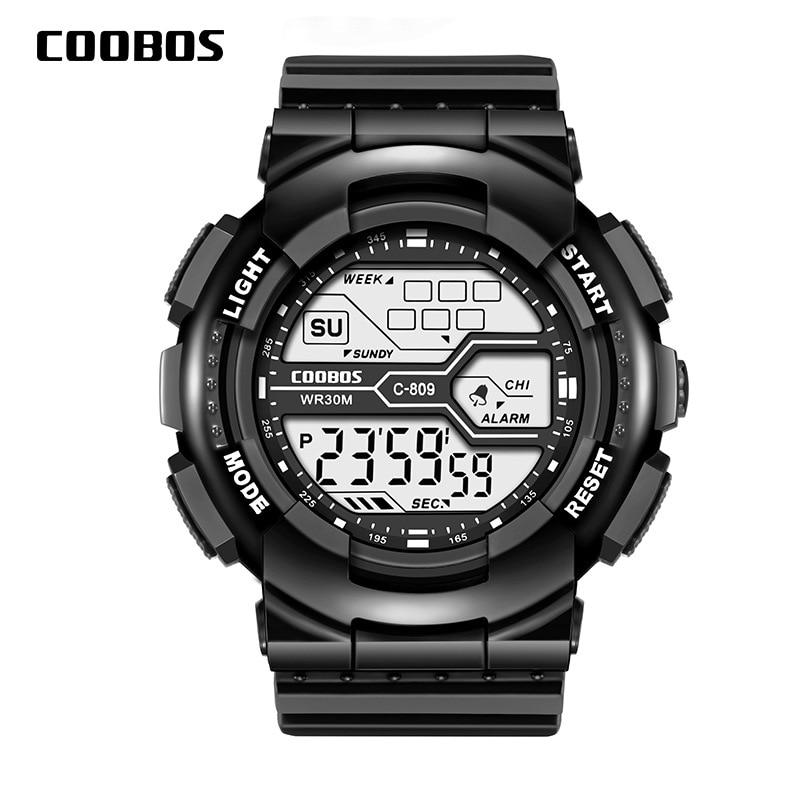 Trend Men's Sports Digital Watch Military Waterproof Mens Watches  LED Luminous WristWatch Male Casual Rubber Clock reloj hombre 3