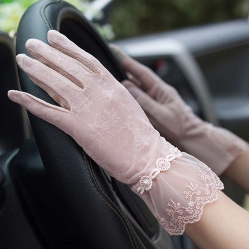Ultimate SaleDriving Glove Sunscreen-Gloves Lace Spring Women Lady Summer Guantes Stretch Breathable