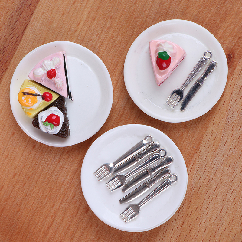 1:12 Dollhouse Miniature Kitchen Food Knife+Chopping Block Doll House Accesso