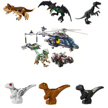 NEW 10925 Jurassic Parked Blues Helicopter Pursuit Bricks Compatible with Worlds Model Building Block DIY Toys