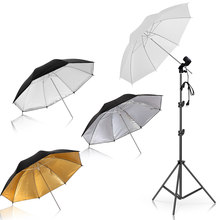 4 pièces 83cm Photo Studio parapluie photographie Photo vidéo lumière réflecteur parapluie or argent noir 3 couleur