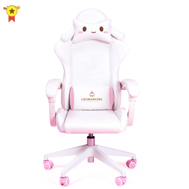 Cute cartoon chairs bedroom comfortable office computer chair home girls gaming chair swivel chair adjustable live gamer chairs