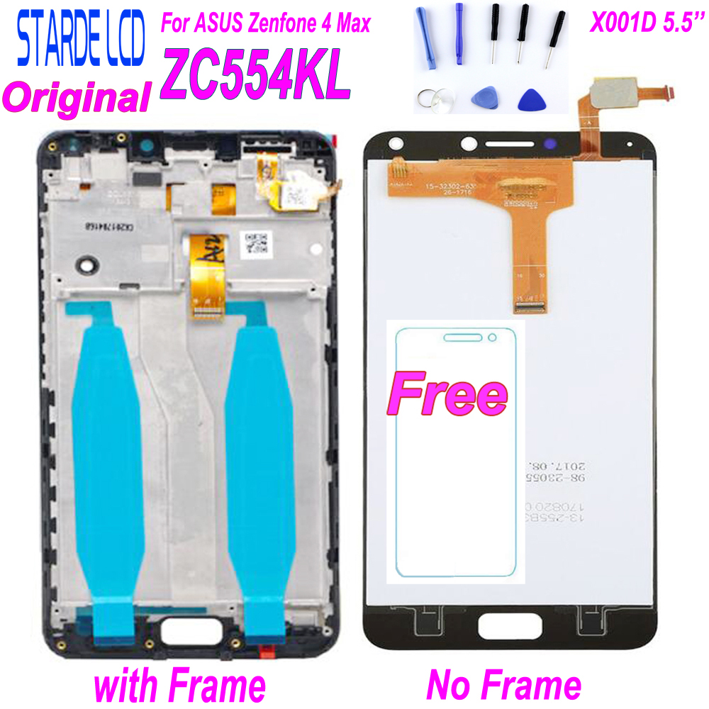 STARDE LCD for Asus Zenfone 4 Max ZC554KL X001D LCD Display Touch Screen Digitizer Assembly with Frame and Free Tools Included