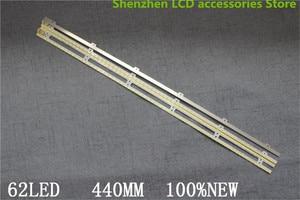 Image 2 - 2Pieces/lot  UA40D5000PR LTJ400HM03 H LED strip BN64 01639A 2011SVS40 FHD 5K6K Right LEFT 2011SVS40 56K H1 1CH PV 440mm 62LED