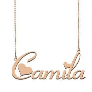 Женское Ожерелье с воротником Camila, ожерелье с именем на заказ для женщин и девочек, подарок на день рождения, свадьбу, Рождественские дни мат...