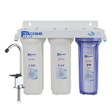 цена на High Quality!3-Stage Under Sink Drinking Water Filtration System Includes Sediment 5 microns, CTO Carbon Block, and GAC Filters