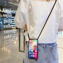 Weichen Fall für Xiaomi Poco M3 Mi 4C 4i 6 Plus Poco M2 Pro M3 6X A2 Lite A1 5X 5S Mi5 Prime Telefon Abdeckung Halskette Crossbody Seil