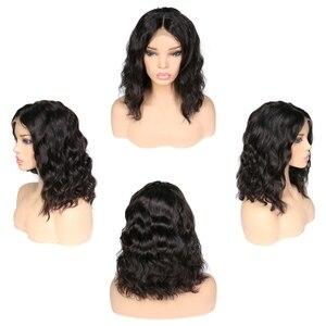 Image 3 - 4x4 Peluca de pelo brasileño Remy con cierre de encaje Peluca de cuerpo ondulado peluca pre arrancada con pelo de bebé pelucas de cabello humano sin pegamento 30 pulgadas peluca