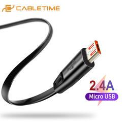 Cabletime Высокое качество Micro USB кабель для samsung Xiaomi Android USB 2A зарядки шнур микро-usb Зарядное устройство N150