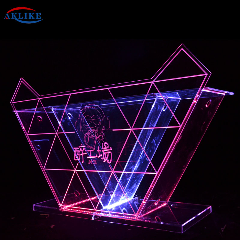 Acrylic Led Dj Booth Bar Table Mixer Controller Sounds  System Equipment Sound Box Bass Speakers Laser Light DJ Table Disco Pion