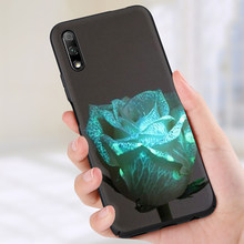 Glowing rose in the dark Beautiful Silicone phone case for Huawei Honor 6A 7A 7C 7X 8C 8X 8 9 10 Lite Note 10 view 20 9X pro(China)