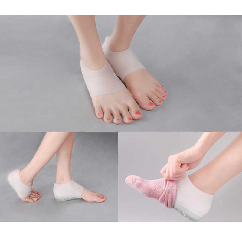 1 çift görünmez yükseklik kaldırma topuk pedi çorap gömlekleri artış astarı ağrı kesici kadın erkek en kaliteli astar Zapatos de Mujer