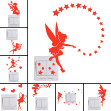 Wall-Sticker Ceiling On-Switch Glowing Home-Decor Kids Room Baby for Children DIY Fairy