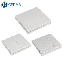 GERMA 86 Panel transmisor inalámbrico de pared, interruptor RF de 1, 2 y 3 botones para bombilla, hogar, sala de estar, dormitorio y pasillo