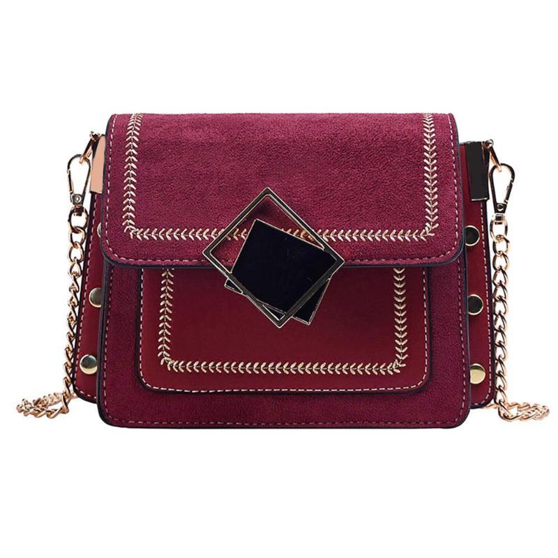 Classic Design Leather Vintage Buckles Casual Women/'s Crossbody Messenger Bag