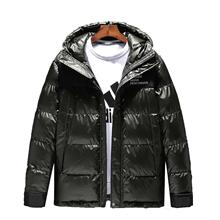 Winter new European and American men's cotton top fashion trend hooded cotton coat thick men's color matching down jacket 2016 european and american female winter hooded down jacket big yards thick warm coat hot new