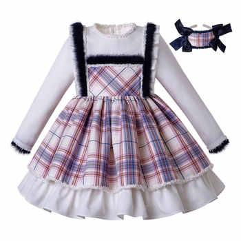 Pettigirl Wholesale Autumn Plaid Baby Girls Dress With Headband Ruffles Kids Party Dresses Children Clothes G-DMGD206-147 - DISCOUNT ITEM  7 OFF Mother & Kids