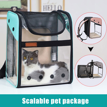 Innovative Traveler Backpack Pet Carriers for Cat and Small Dogs Transparent Mesh Breathable Backpack BJStore