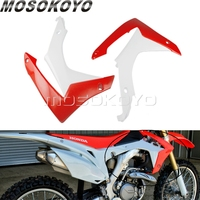 1 Pair Dirt Pit Bike Front Radiator Shrouds Cover MX Enduro Oil Tank Side Guard For Honda CRF250R 2014 2017 CRF450R 2013 2016