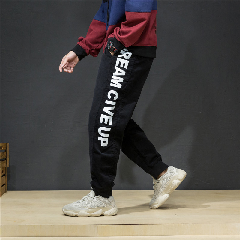 Japanese-style Retro Jeans Men's Harajuku Wind Popular Brand Loose Harem Pants Youth Corduroy Casual Pants Large Size Fat