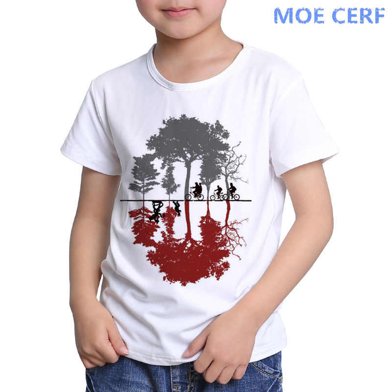 Funny Stranger Things Kids Print T shirt  Baby Clothes Boys Girls Cartoon Kid T Shirt Children's Tops Tees D9-1