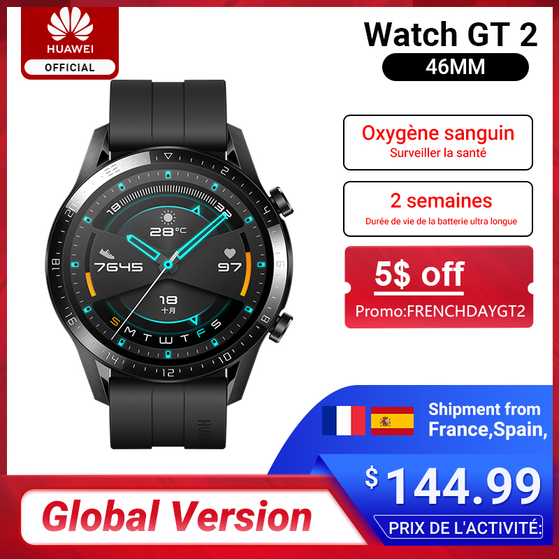 Global Version HUAWEI Watch GT 2 GT2 GPS 14 Days Phone Smart Call Blood Oxygen Heart Rate Tracker For Android IOS