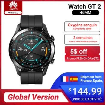 Versión Global HUAWEI Watch GT 2 GT2 GPS 14 días teléfono a prueba de agua Smart Call pulsómetro Tracker para Android iOS