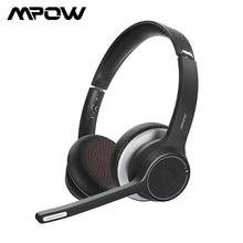 Yükseltilmiş Mpow HC5 kablosuz kulaklıklar Bluetooth 5.0 kulaklık CVC8.0 gürültü Microphpne telefon için PC bilgisayar ofis
