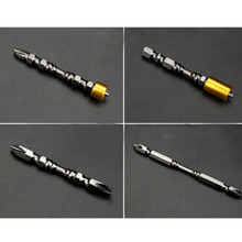 High Quality 4Pcs Double Cross Head Screwdriver Black Nickel Super Magnetic Driver Drill Set
