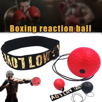boxing reaction training ball speed ball decompression ball for gym boxing improve speed with reaction training Boxing Punch Fight Ball With Head Band For Reflex Speed Reaction Training Box Muscle Combat Exercise