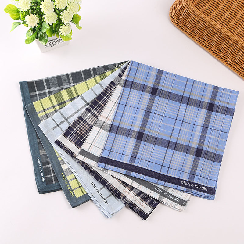 High Quality Men's Vintage Plaid Striped Cotton Handkerchief Pocket Square Hankies Luxury Chest Towel Prom Wedding Party Gift