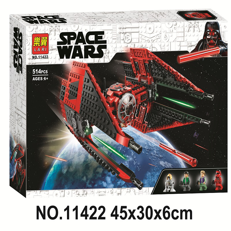 New Starwars Interceptor Major Vonreg Fighter Lepining Starwars 75233 75242 75240 75239 Building Blocks Bricks Children Toy