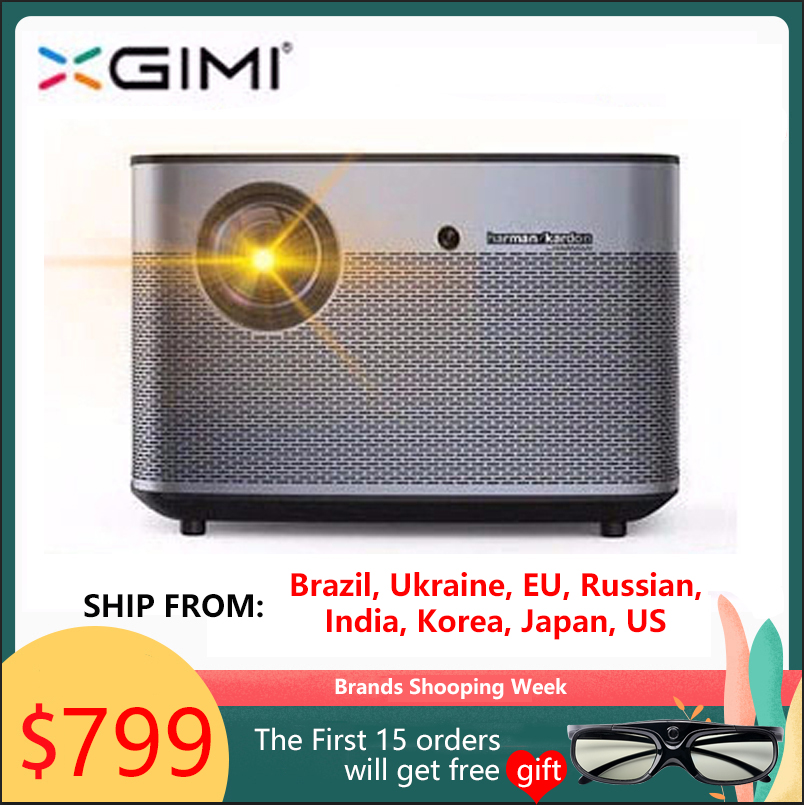 XGIMI H1s 1920*1080 dlp Full HD 300 inch projector 1100 ANSI lumens 3D  projector Support 4K Android wifi Bluetooth beamer  Гриль