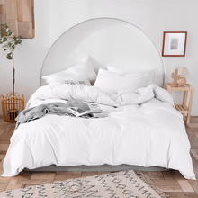 Luxury 100% Cotton Duvet Cover Set High-end Bedding Set Queen King Size 3Pcs White Black Blue Gray Pink Duvet Cover